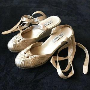 Steve Madden Satin Lace Up Espadrille Sandals 8